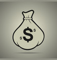 money bag icon in flat style vector image vector image