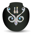necklace and earrings wedding womens vector image vector image