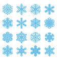 nowflake winter icon set vector image