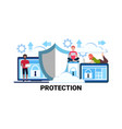 online network security data protection concept vector image vector image