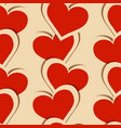 paper hearts seamless pattern valentines day vector image vector image