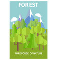 poster depicting pure force of nature vector image vector image