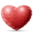 Red heart Polygon vector image vector image