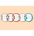 Round numbered banners for Infographics vector image vector image