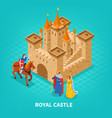 royal castle isometric composition vector image vector image