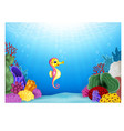 Seahorses with beautiful underwater world vector image vector image