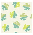 seamless pattern of grape leaves vector image vector image