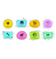seo timer first aid and upper arrows icons set vector image vector image