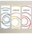 Set pattern with abstract circle banner vector image
