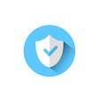 shield with check mark icon blue protection and vector image