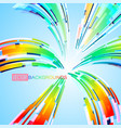 spread colors abstract scene on a blue vector image vector image