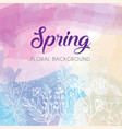 spring floral template vector image vector image