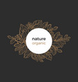 template nature circle black vector image vector image