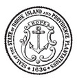 The seal of the state of rhode island and