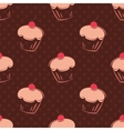Tile cupcake pattern with polka dots vector image vector image