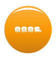 train with cargo icon orange vector image