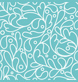 turquoise leaf seamless pattern ornament vector image