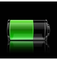 User interface battery charge level indicator vector image