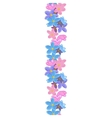 Vertical seamless floral line vector image vector image