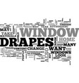 window drapes text word cloud concept vector image vector image