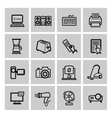 with set of electronic devices vector image vector image