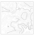 topographic map of relief and land heights vector image