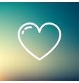 Heart thin line icon vector image