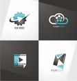 Movie logo designs vector image