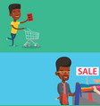 two shopping banners with space for text vector image