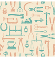 Vintage Tools And Instruments Pattern 1 vector image