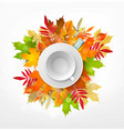 3d with white empty mug and saucer vector image
