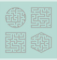 a set of labyrinths for children a square a vector image vector image