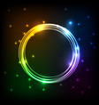 abstract colorful plasma with circles background vector image vector image