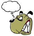 angry dog with thought bubble vector image