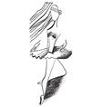 Art of Line Art - Ballerina vector image vector image