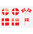 badges with Danish flag vector image vector image