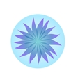 Blue blossom in the bubble vector image