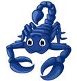 blue scorpion cartoon vector image