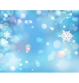 Blue Winter Shining Bokeh Background With vector image vector image
