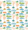 boat wallpaper vector image vector image