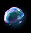 bursting soap bubbles process stage vector image