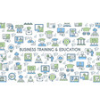 business training and education banner vector image