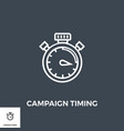 campaign timing icon vector image vector image