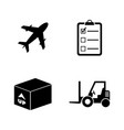 cargo simple related icons vector image