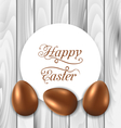celebration card with Easter chocolate eggs on vector image vector image