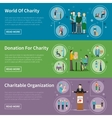 Charity Donation Banners vector image vector image