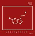 chemical formula icon serotonin graphic elements vector image
