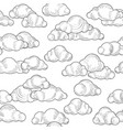 cloud pattern cloudy sky seamless background vector image