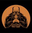 cool gorilla retro vector image vector image