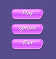 cool shiny computer game menu interface collection vector image vector image